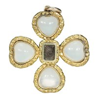 Antique Georgian Chalcedony Cross Pendant