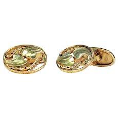Antique Gold Cufflinks by Bernhard Hertz Danish