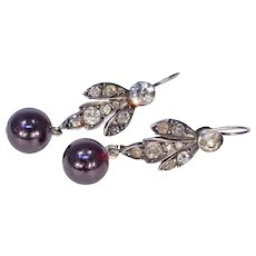 Victorian Silver Paste and Garnet Earrings