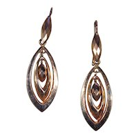 Long Antique Victorian Gold Drop Earrings
