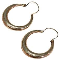 Antique 9k Rose Gold Hoop Earrings
