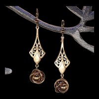 Antique Edwardian Gold Drop Earrings