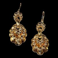 Antique Victorian Gold Drop Earrings