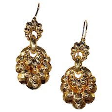 Antique Victorian Gold Drop Earrings