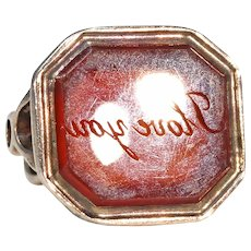Victorian 'I Love You' Fob Seal Pendant