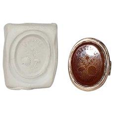 Antique Unity for Britain Carnelian Seal Fob Pendant