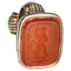 Duke of Wellington Fob Seal Pendant Carnelian Gold
