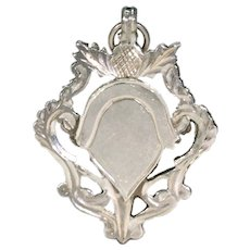 Antique Silver Thistle Watch Fob Dated 1913