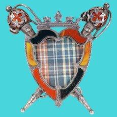 Edwardian Silver Scottish Agate Silver Picture Frame Edinburgh 1909