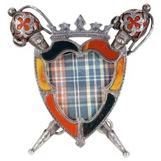 Antique Scottish Agate Silver Picture Frame Edinburgh 1909