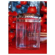 Antique Arts & Crafts Sterling Silver Lidded Jar ~ Hammered Dated 1905