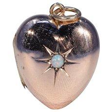Victorian Opal Heart Locket Pendant