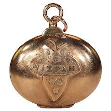 Antique Victorian 'Mizpah' Locket Rose Gold