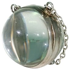 Giant Antique Rock Crystal Silver Locket
