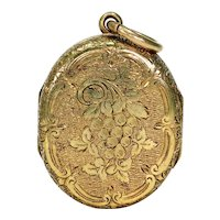 Victorian 15k Gold Four Part Locket Pendant