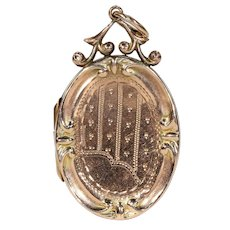 Antique Gold Edwardian Oval Locket