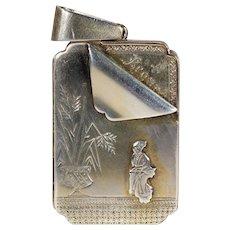 Antique Victorian 'Regard' Locket in Sterling Silver, c. 1880