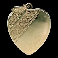 Simply Lovely Art Deco Locket Heart Shaped