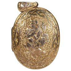 Antique Victorian Intricately Engraved Gold Locket