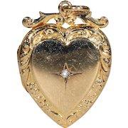 Antique Victorian Gold Heart Locket