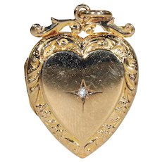 Antique Victorian Gold Heart Locket