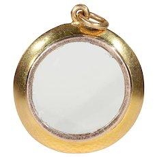 Victorian 18k Gold Frame Locket Pendant