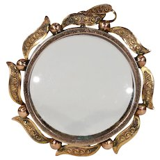 Victorian Sunburst Frame Locket Pendant 9k Gold English
