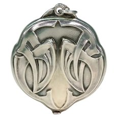 Stunning Art Nouveau Silver Slide Locket Double Sided