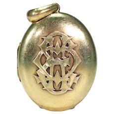 Antique Victorian 4 Part Locket Heavy 15k Gold