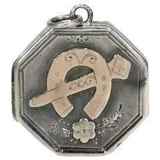 Lucky Horseshoe and Nail Locket Pendant