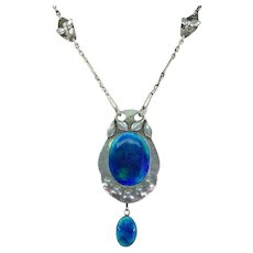 Stunning Silver Enameled Murrle Bennett Necklace