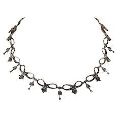 Superb Vintage Art Deco Marcasite Collar Necklace