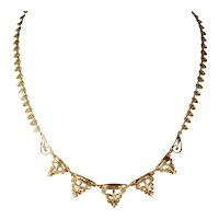 Fanciful Antique 18k Gold French c. 1900 Necklace
