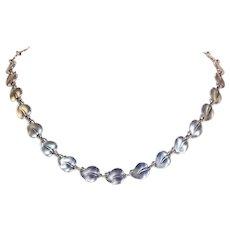Vintage Leaf Link Silver Necklace by Eiler & Marloe