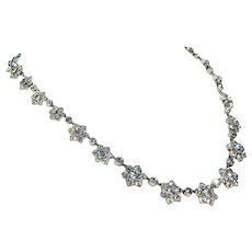 Fabulous Antique Victorian Paste Necklace in Silver