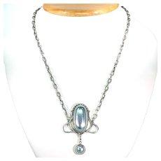 Vintage Silverstone Art Nouveau Style Necklace Sterling Silver
