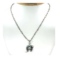 Victorian Niello Horseshoe Crop Necklace Niello Chain