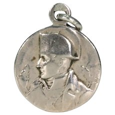 Antique Silver Napoleon Pendant Charm