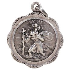 Vintage St. Christopher Silver Pendant