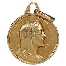 Antique French Gold Jesus Pendant