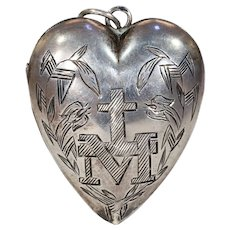 Antique French Ex-Voto Pendant Silver