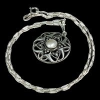 Arts and Crafts Era Antique Silver Necklace by William Hair Haseler