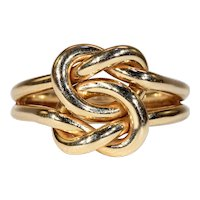 Vintage 14k Gold Heavy Love Knot Ring