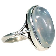 Hancrafted Antique Moonstone Silver Ring