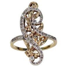 Antique French Art Nouveau Diamond Ring