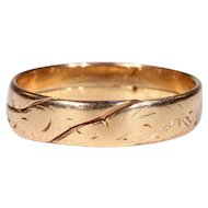 Antique 18k Gold Alliance Ring Wedding Band