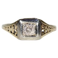 Vintage Gold Diamond Solitaire Ring