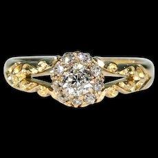 Antique Diamond Cluster Ring 18k Gold Hallmarked 1899