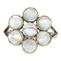 Edwardian Gold Moonstone Cluster Ring
