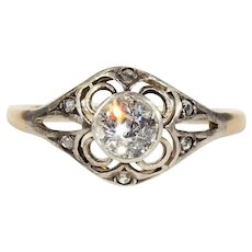 Antique Victorian .6ct Diamond Solitaire Engagement Ring